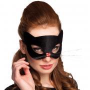 Maske Augenmaske Schwarze Katze