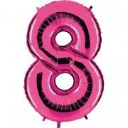 Folienballon Riesenzahl Pink #8 100cm