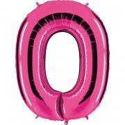Folienballon Riesenzahl Pink #0 100cm