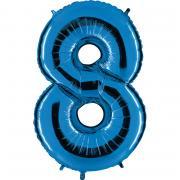 Folienballon Riesenzahl Blau #8 100cm