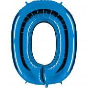 Folienballon Riesenzahl Blau #0 100cm