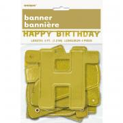 Buchstabengirlande Happy Birthday Gold 121cm