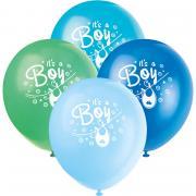 8 Latexballons Baby Shower Kleider blau
