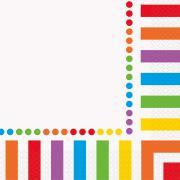 Servietten Rainbow Party 33cm 16 Stück