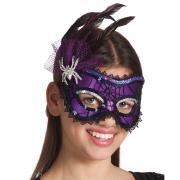 Augenmaske Spinne lila