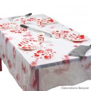 Tischtuch blutig