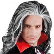Vampir Perücke in Schwarz-Grau