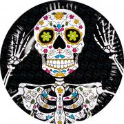 6 Pappteller Day Of The Dead 23cm