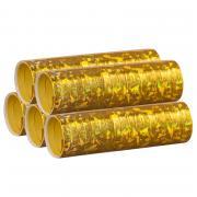 Luftschlangen Holografisch Gold 5 Rollen