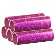 Luftschlangen Holografisch Pink 5 Rollen 4m