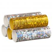Luftschlangen Holografisch Gold Silber 5 Rollen