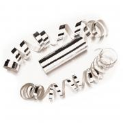 Luftschlangen Metallic Silber 3 Stück