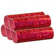 Luftschlangen Holografisch Rot 5 Rollen
