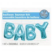Ballon Girlande BABY Blau 35cm