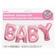 Ballon-Girlande BABY in Pink 274cm