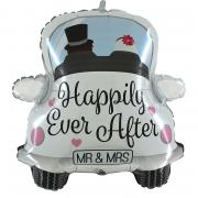 Folienballon Auto Happily Ever After 79cm