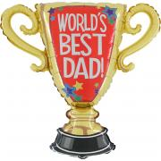 Folienballon Pokal World's Best Dad 84cm