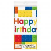 Tischdecke PVC Happy Birthday Blocks 137x213cm