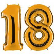 Ballon Riesenzahl-Set 18 Gold