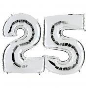 Ballon Riesenzahl-Set 25 Silber