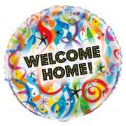 Folienballon Welcome Home Luftschlangen 45cmø