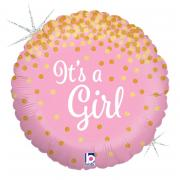 Folienballon It's a Girl Glitter 45cm
