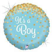 Folienballon It's a Boy Glitter 45cmØ