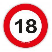 Konfetti Verkehrsschild #18 21g