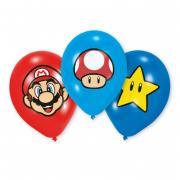 Latexballons Super Mario 6 Stück 30cm