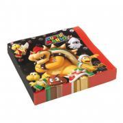 Servietten Super Mario 20 Stück 33cm