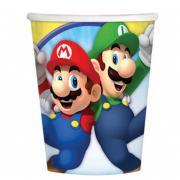 Pappbecher Super Mario 8 Stück 266ml