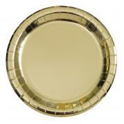 Pappteller Gold glänzend 18cm 8 Stück