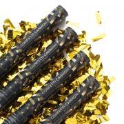 Konfetti Shooter Streifen Gold 40cm 4 Stück