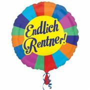Folienballon Endlich Rentner 43cmØ