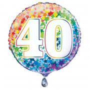 Folienballon Happy Birthday Rainbow Star #40 45cmØ