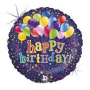 Folienballon Happy Birthday Ballonstrauß holo