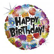Folienballon Happy Birthday Ballons bunt