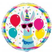 Folienballon Lama Geburtstag 45cmØ