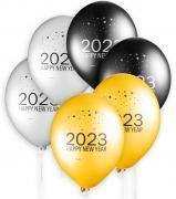 Latexb Happy New Year 2021 ø 33cm 6 Stück
