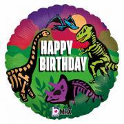 "Folienballon Happy Birthday Dinos 18"""