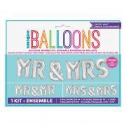 Ballongirlande Mr & Mrs Silber 35cm