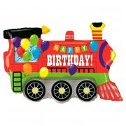 Folienballon Happy Birthday Lokomotive 93cm