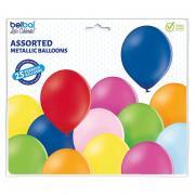 Latexballons Metallic Bunt27cmØ 25 Stück