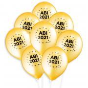 8 Latexballons ABI 2021 in Gold ø33cm Remember