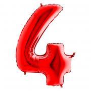 Folienballon Riesenzahl Rot #4 100cm