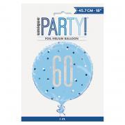 Folienballon Glitzer rund #60 blau 50cmØ