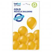 Latexballons Metallic Gold ca.12cmØ 25Stück