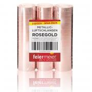 Luftschlangen Metallic Rosegold 3 Stück