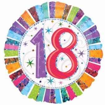 Folienballon Happy Birthday Radiant #18 ø45cm