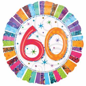 Folienballon Happy Birthday Radiant #60 holo 45cmØ